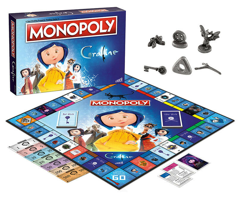 USAopoly MONOPOLY® Call Of Duty, IT, Guardians of The Galaxy, Warhammer  ... Coraline