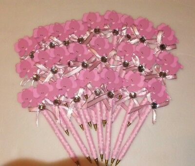 24 pcs Baby Shower Elephant pens Favors for girl (Girl Elephant Baby Shower)