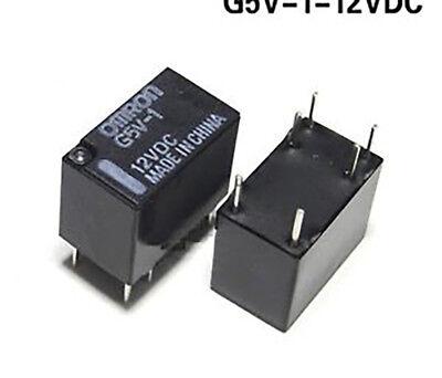Omron G5v-1 Dc 5v 6pin Omron Spdt Mini Signal Relay For Pcb