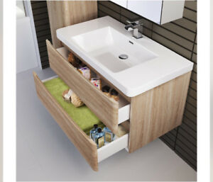 White oak Washroom vanity set