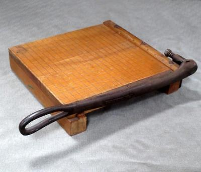 (Vintage Ingento No. 3 10x10 Small Wood Paper Cutter)