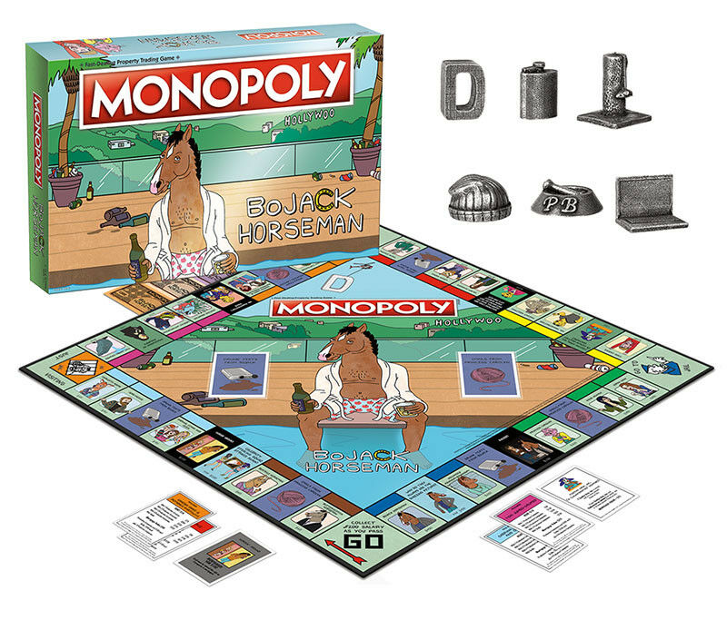 USAopoly MONOPOLY® Call Of Duty, IT, Guardians of The Galaxy, Warhammer  ... BojackHorseman