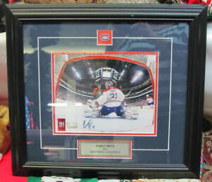 """Signed 10"""" x 8"""" Carey Price in 19"""" x 17"""" Frame with COA"""