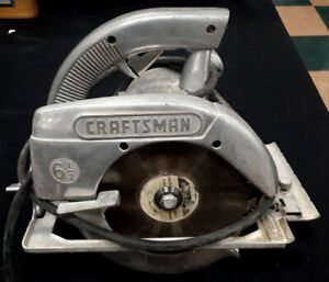 "Vintage 1961 Sears Craftsman 6 1/2"" Circular Saw Working"