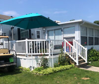 Sherkston Shores Cottage Rental comes with lifted golf cart