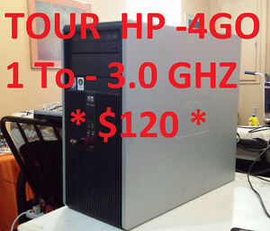 TOUR HP  -CORE 2 DUO - 4 GO RAM- 1To  DD - 3.0 GHZ & ++