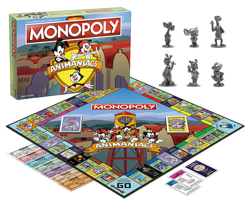USAopoly MONOPOLY® Call Of Duty, IT, Guardians of The Galaxy, Warhammer  ... Animaniacs