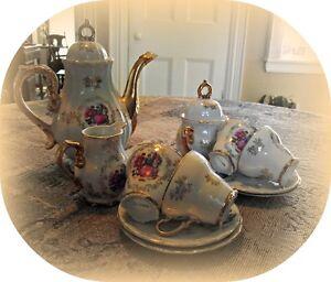 4 cup demitasse tea set