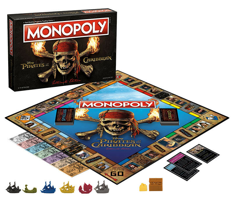 USAopoly MONOPOLY® Call Of Duty, IT, Guardians of The Galaxy, Warhammer  ... PiratesOfTheCaribbean