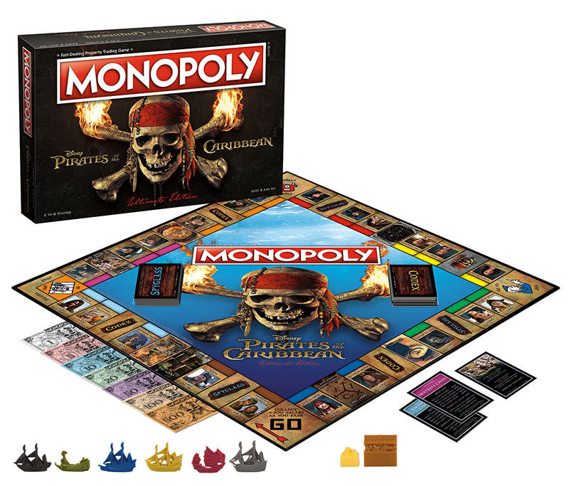 USAopoly MONOPOLY® Game of Thrones, The Walking Dead or Rick and Morty or more PiratesOfTheCaribbean