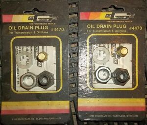 2 -  #4470 MR GASKET OIL DRAIN PLUG KITS FOR TRANS / OIL PANS
