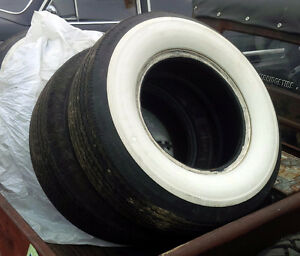 Denman L 78 x 15 Wide White Wall Tires