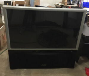 """46"""" Hitachi Projection T.V. with built in DVD player"""