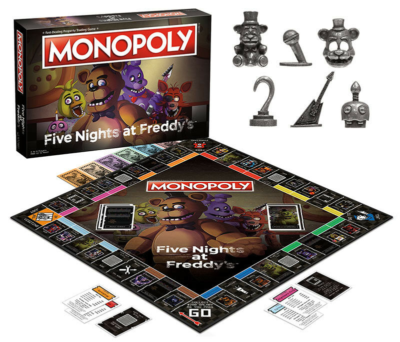 USAopoly MONOPOLY® Call Of Duty, IT, Guardians of The Galaxy, Warhammer  ... FiveNightsAtFreddys