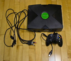 Xbox Original with 3 games