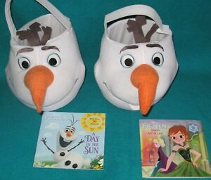 2 Olaf Giant Plush Surprise Basket and 2 FRozen Books