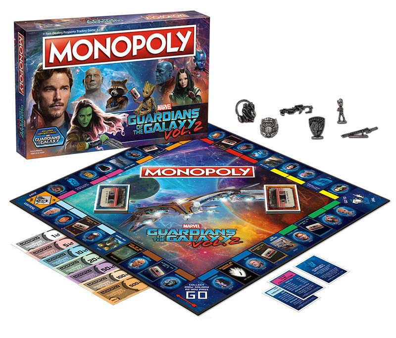 USAopoly MONOPOLY® Game of Thrones, The Walking Dead or Rick and Morty or more GuardiansoftheGalaxy