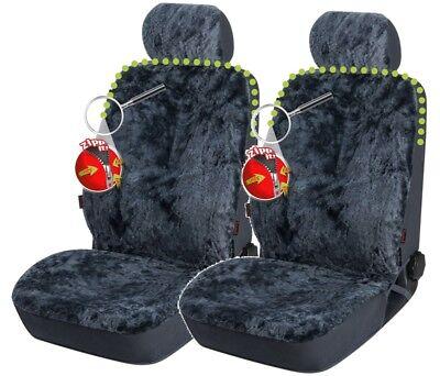 2 Stk Reißverschluss Lammfell Autositzfelle+Kopfstütze anthrazit, ZIPP IT System - Lammfell Reißverschluss Vorne