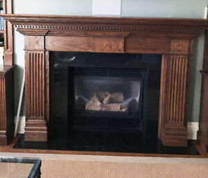 Gorgeous Fireplace mantel designer handcrafted dark wood