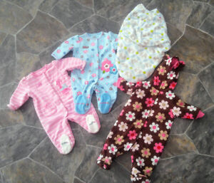 Baby Girl Clothing, 0-3 months, Sleepwear