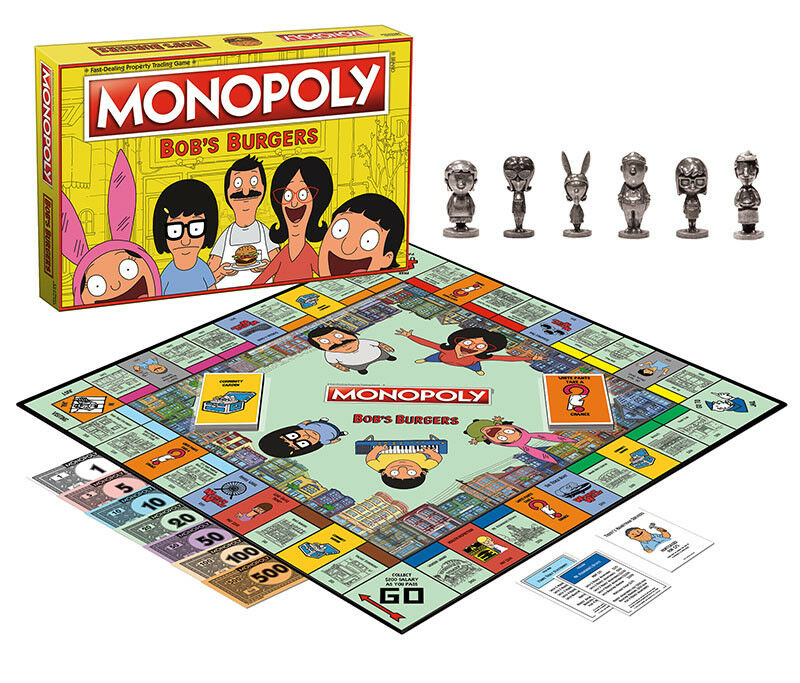 USAopoly MONOPOLY® Game of Thrones, The Walking Dead or Rick and Morty or more Bob'sBurgers