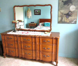 FR Provincial – 3-pc Bedroom Set (dresser, mirror, night stand)