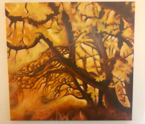 Beautiful Fall themed canvas painting