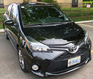 2015 Toyota Yaris SE 5Dr Hatchback- Black with Grey trim