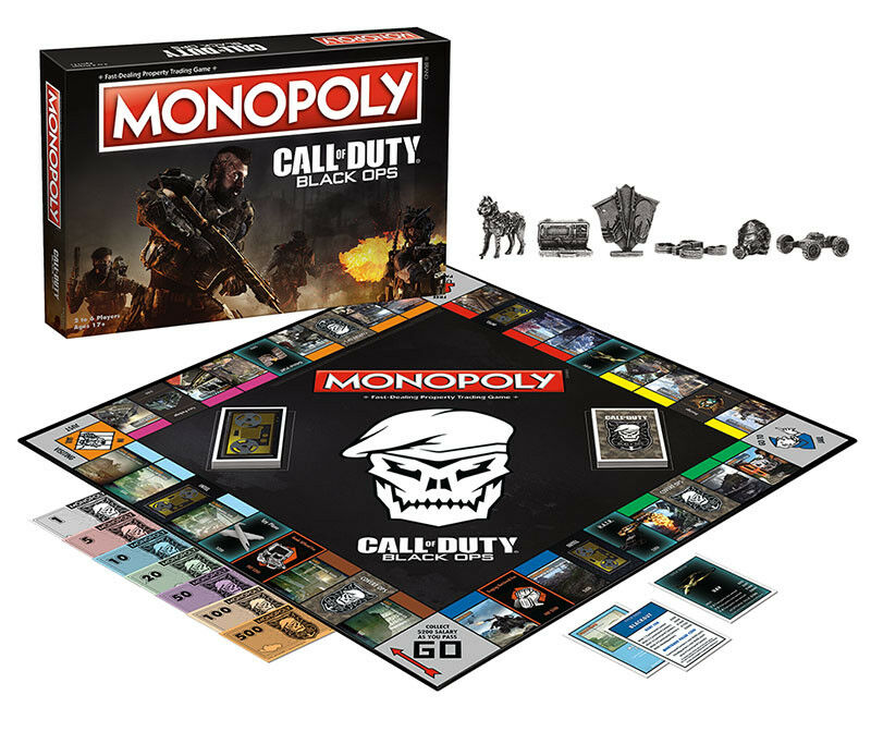 USAopoly MONOPOLY® Call Of Duty, IT, Guardians of The Galaxy, Warhammer  ... CallOfDuty