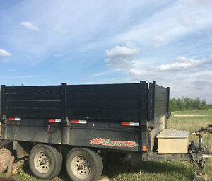 For rent - bumper pull hydraulic dump trailer 6X10ft