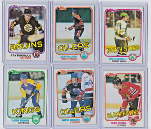 CARTE DE HOCKEY TOPPS 1981-82 SET COMPLET 132 CARTES NM-MINT