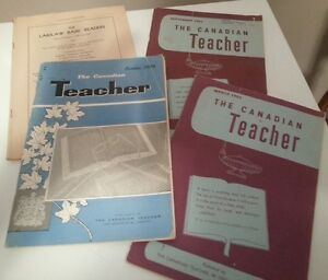 4 vintage copies of The Canadian Teacher magazine