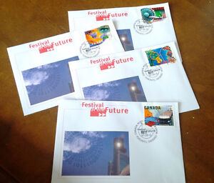 Festival of the Future, 4 Stamps, First Day of Issue Kitchener / Waterloo Kitchener Area image 1