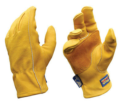 Wells Lamont Gold Mens Medium Cowhide Leather Heavy Duty Work Gloves