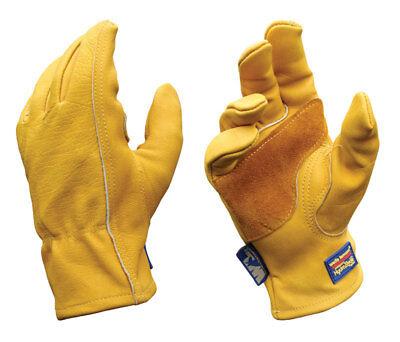 Wells Lamont Gold Mens Medium Cowhide Leather Heavy Duty Work Gloves