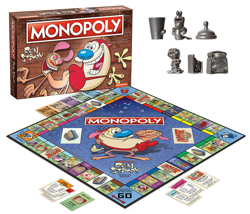 USAopoly MONOPOLY® Call Of Duty, IT, Guardians of The Galaxy, Warhammer  ... RenAndStimpy