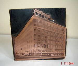 Antique Copper & Lead Press Plates - Montreal Landmarks