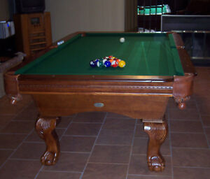 Table de billard en bois massif