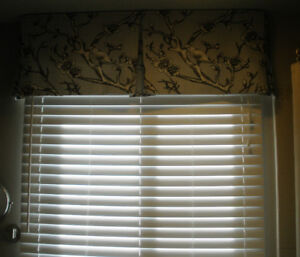 8 Faux Wood Blinds,  2 inch Slat Window, Excellent Condition