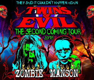 Marilyn Manson and Rob Zombie Concert Tickets; GREAT SEATS!
