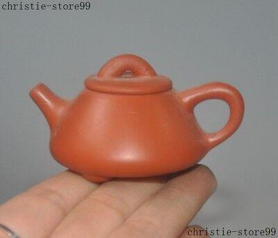 Rare Old China Yixing Zisha Pottery Small Mini Baby Teapot Pot Tea maker Teaset