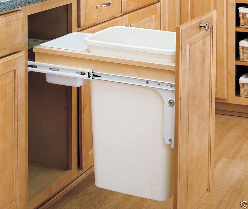 kitchen garbage can cabinet how to make a pullout trash can ebay 4903