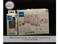 MAM and Tommee Tippee bottles - new
