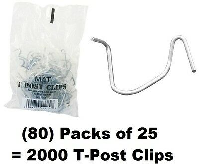 80 Ea Mat 901169b 25 Packs T-post Fence Post Clip Fasteners