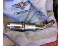 Fuel exhaust suzuki gsx650f gsx1250f bandit 650 1250 stainless steel silencer