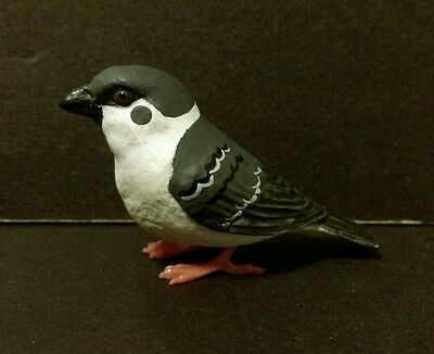Suzume Collection ( Like Kaiyodo ) Black Eurasian Tree Sparrow Bird Figure J