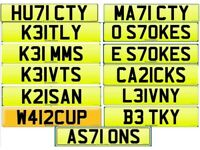 13 Number plates my whole private collection as 1 lot for an absolute bargain £15k