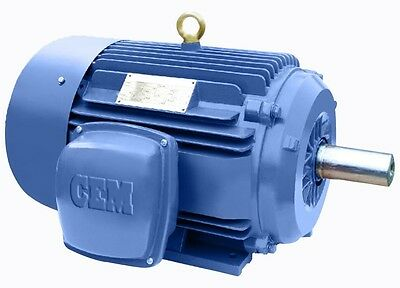 Premium Efficiency Cast Iron Ac Motor 100hp 1200rpm 444t 3ph Tefc 1 Yr Warranty