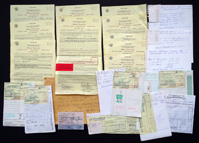 1966 HANK SNOW Concert TOUR ITINERARY Archive / 10 CONTRACTS Receipts & MORE