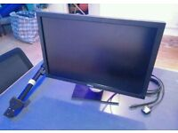 "Dell 27"" Monitor with table base stand and table clamp stand attachment"